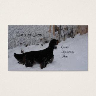 Gordon Setter Winter Business Cards