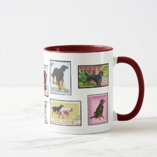 Gordon Setter World Stamps Ceramic Mug