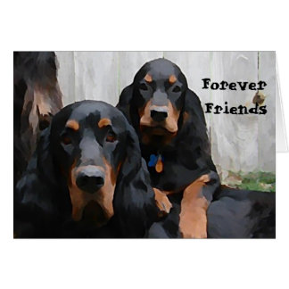 Gordon Setters Forever Friends Painting Note Card