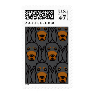 Gordon Setters Postage Stamp