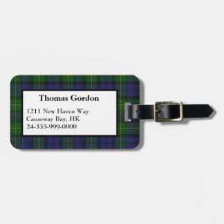 Gordon Tartan Plaid Luggage Tag