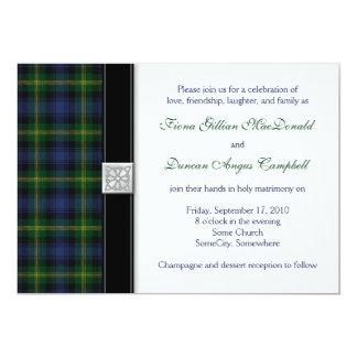 Gordon Tartan Wedding Invitation