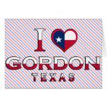 Gordon, Tejas Felicitaciones