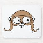 Gordon the Golang Gopher Mousepad