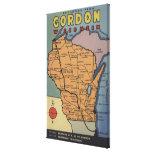 Gordon, Wisconsin - Large Letter Scenes Canvas Print