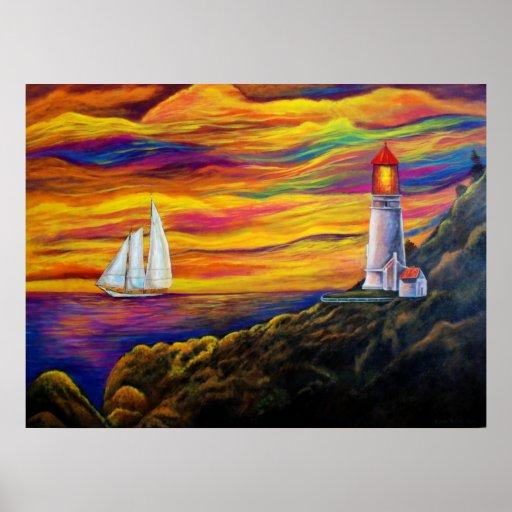 Gordon's Lighthouse Poster