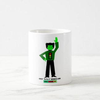 "Gordy ""Go For It"" Greenfalloon Classic White Coffee Mug"