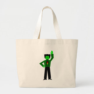 """Gordy """"Go For It"""" Greenfalloon Sans Label Large Tote Bag"""