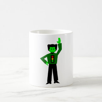 "Gordy ""Go For It"" Greenfalloon Sans Label Classic White Coffee Mug"