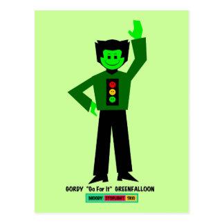 """Gordy """"va para él"""" Greenfalloon Postales"""
