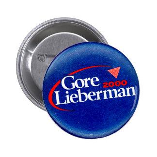 Gore-Lieberman 2000 - Botón Pin Redondo De 2 Pulgadas