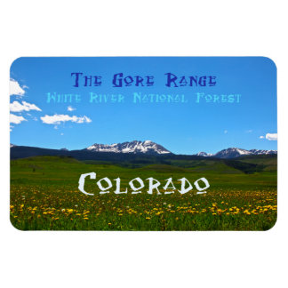 Gore Range ~ White River National Forest, Colorado Rectangular Photo Magnet