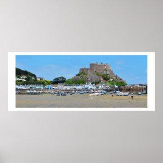 Gorey and Mont Orgueil castle Posters