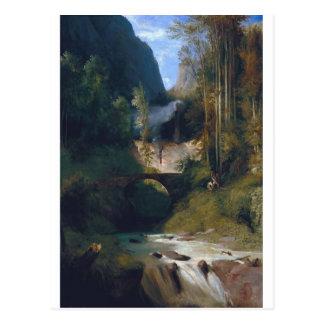 Gorge near Amalfi - 1831 by Carl Blechen Postcard