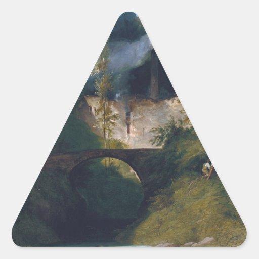 Gorge near Amalfi - 1831 by Carl Blechen Stickers