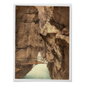 Gorge of the Aare River, near Meiringen, Bernese O Print
