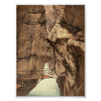Gorge of the Aare River, near Meiringen, Bernese O Poster
