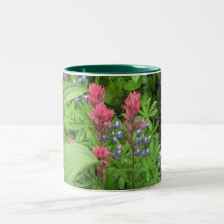 Gorge Wildflowers Two-Tone Coffee Mug