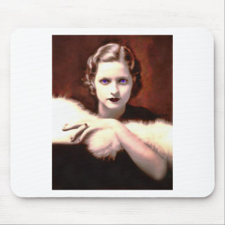 Gorgeous 1920s Woman with Intense Blue Eyes Mouse Pad