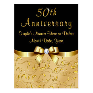 Gorgeous 50th Anniversary Save the Date Post Cards