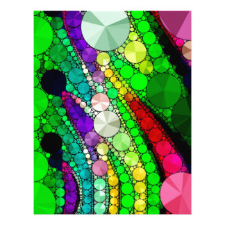 Gorgeous Abstract Bling Pattern Letterhead