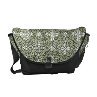 Gorgeous Abstract Floral Swirl Commuter Bag