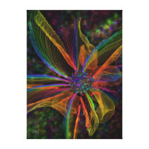 Gorgeous Abstract Flower Wrapped Canvas
