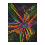 Gorgeous Abstract Flower Wrapped Canvas Canvas Print