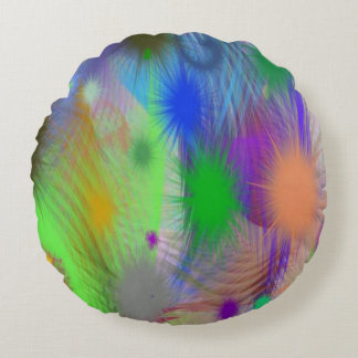 Gorgeous Abstract Round Throw Pillow Round Pillow