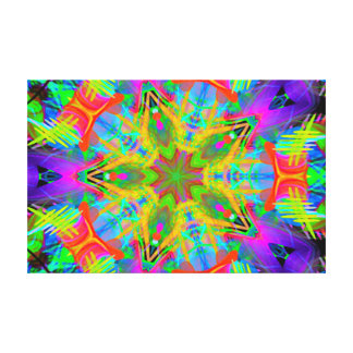 Gorgeous Abstract Star Wrapped Canvas Canvas Print