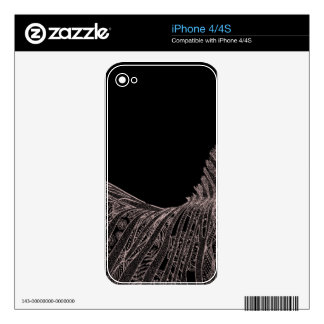 Gorgeous Abstract Zebra Flowers Design Skins For The iPhone 4