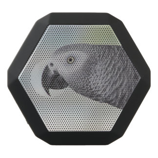 Gorgeous African Grey Parrot Black Bluetooth Speaker