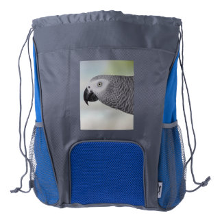 Gorgeous African Grey Parrot Drawstring Backpack