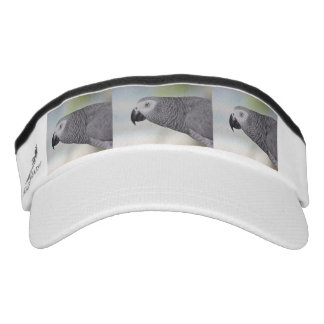 Gorgeous African Grey Parrot Headsweats Visor