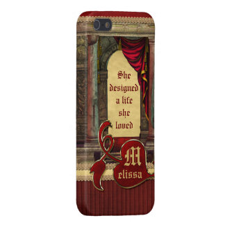 Gorgeous Ancient Arch Columns Dramatic Red Drapes Case For iPhone SE/5/5s