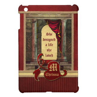 Gorgeous Ancient Arch Columns Dramatic Red Drapes iPad Mini Covers