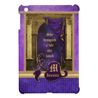 Gorgeous Ancient Arch Columns Violet Drapes iPad Mini Cases
