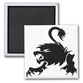 Gorgeous and black lion design magnet