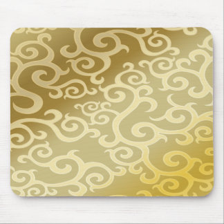 Gorgeous and Golden Swirls Mouse Pad
