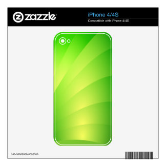 Gorgeous and Intense Green iPhone 4 Skins