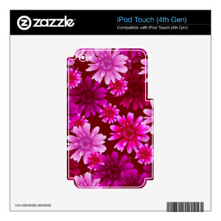 Gorgeous and Pink Flowers iPod Touch 4G Decal