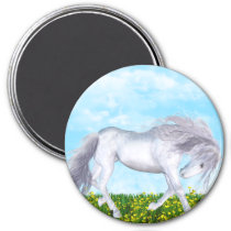 Gorgeous and White Horse Magnet