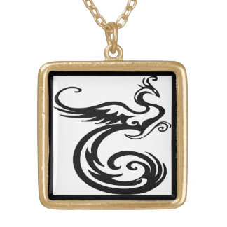 Gorgeous and Wild Phoenix Gold Plated Necklace