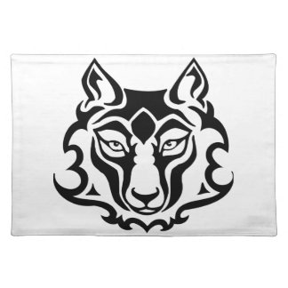 Gorgeous and Wild Wolf Cloth Placemat