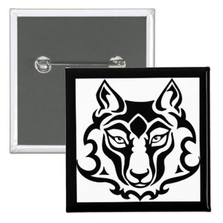 Gorgeous and Wild Wolf Pinback Button