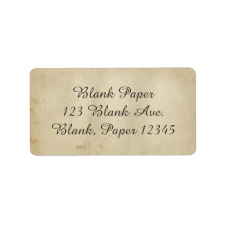 Gorgeous Antique Stained Paper 1800's Inspired Label