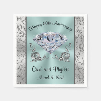 Gorgeous Any Year and Colors Anniversary Napkins