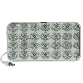Gorgeous Art Nouveau Blue Floral Notebook Speakers