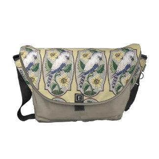 Gorgeous Art Nouveau Exotic bird Messenger Tote Messenger Bag