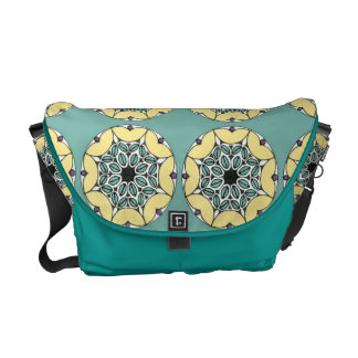 Gorgeous Art Nouveau Floral Circle Bag Commuter Bags